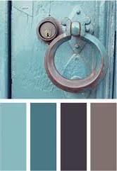 #pintratuin Mijn favoriete kleurencombinatie: blauw met vergrijsde bruintinten