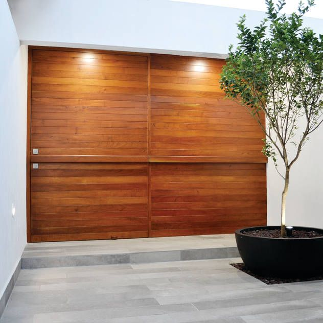 99 best images about puertas ventanas y paredes on pinterest - Puertas modernas exterior ...