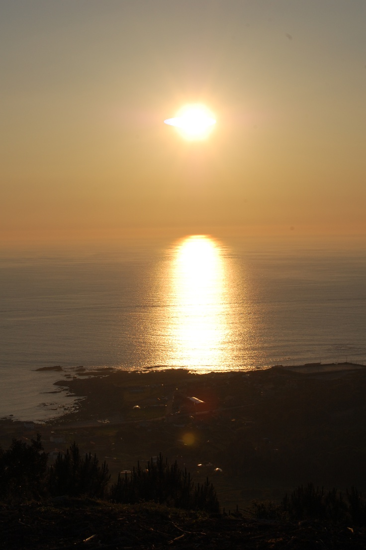 Sunset in Vigo, Spain--the port city from which my mother sailed for America in 1920.