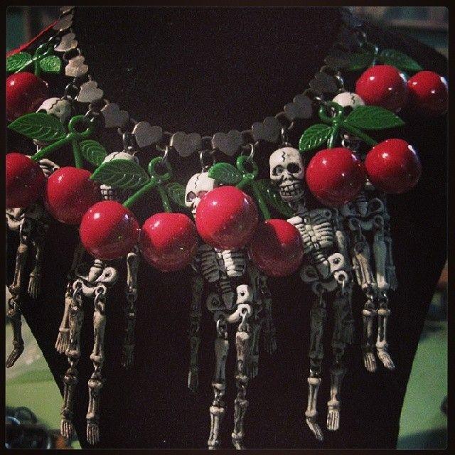 B612 necklace*skulls n cheries*