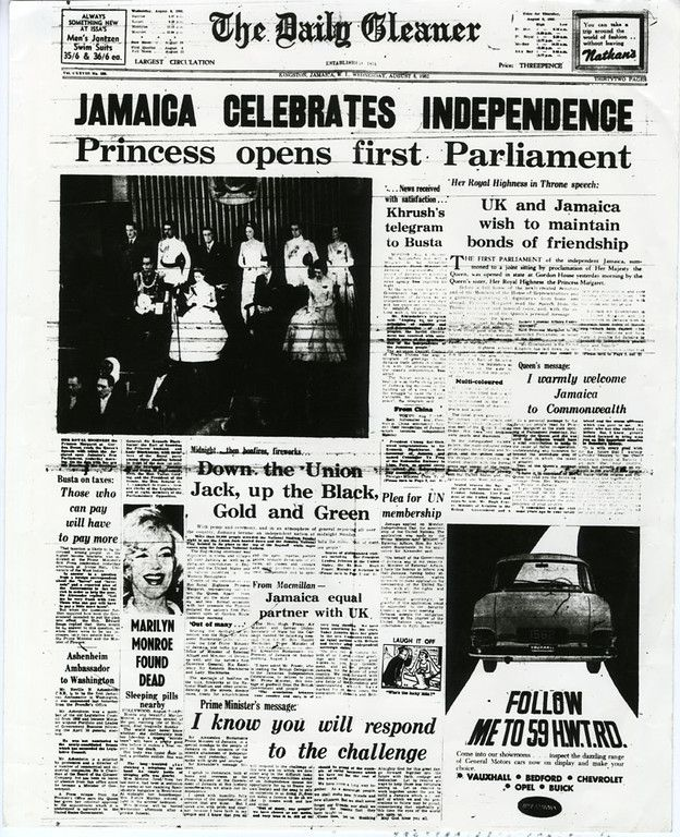 Jamaica Celebrates Independence. The Daily Gleaner