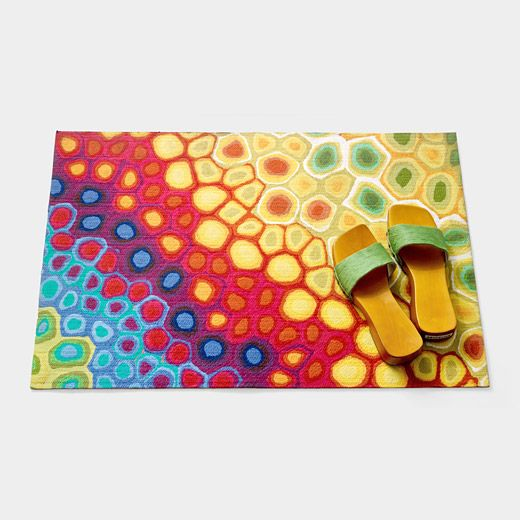 Pop swirl multicolor floor mat / doormat by Liore Manne from MoMA