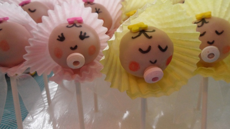Baby cake pops for baby shower