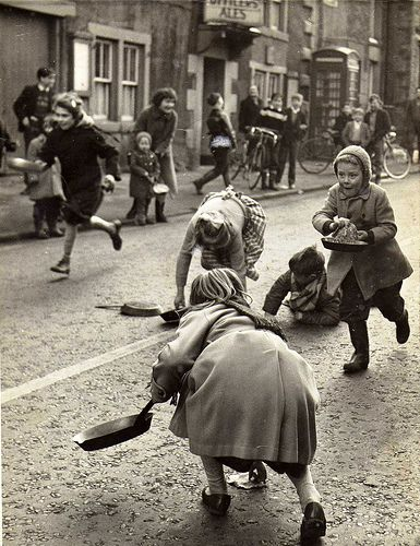 Pancake Day Race - Great to see traditions still going strong