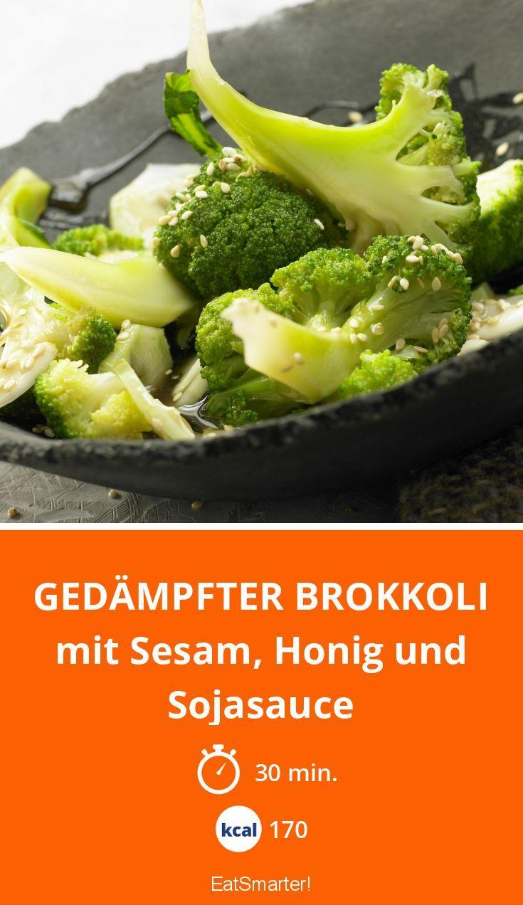Gedämpfter Brokkoli - mit Sesam, Honig und Sojasauce - smarter - Kalorien: 170 Kcal - Zeit: 30 Min.   eatsmarter.de