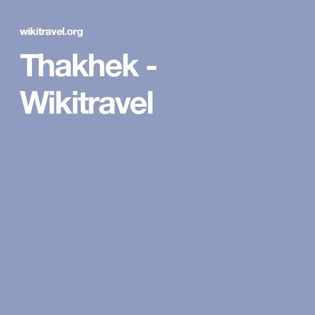 Thakhek - Wikitravel