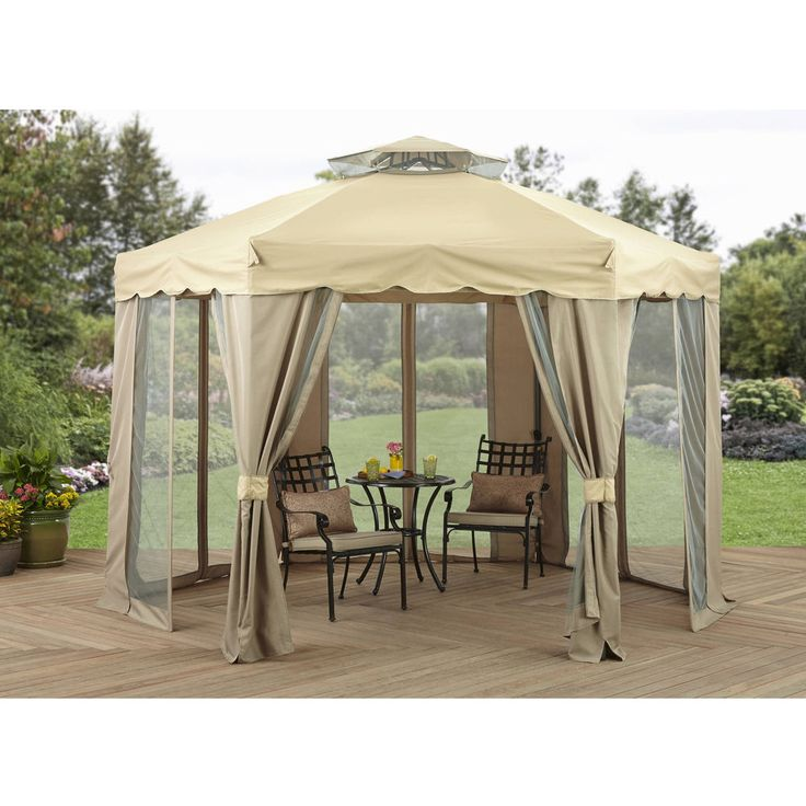 12 x 12 Gazebo Canopy Outdoor Patio Backyard Furniture with Double Vented  sc 1 st  Pinterest & Best 25+ 12x12 gazebo ideas on Pinterest | 12 x 12 deck ideas Diy ...