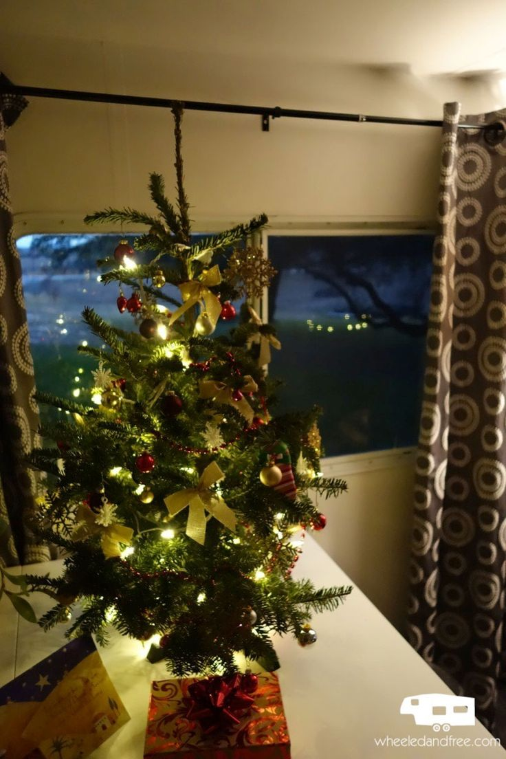 decorating for christmas in a small space  it is possible to have a tree in an rv