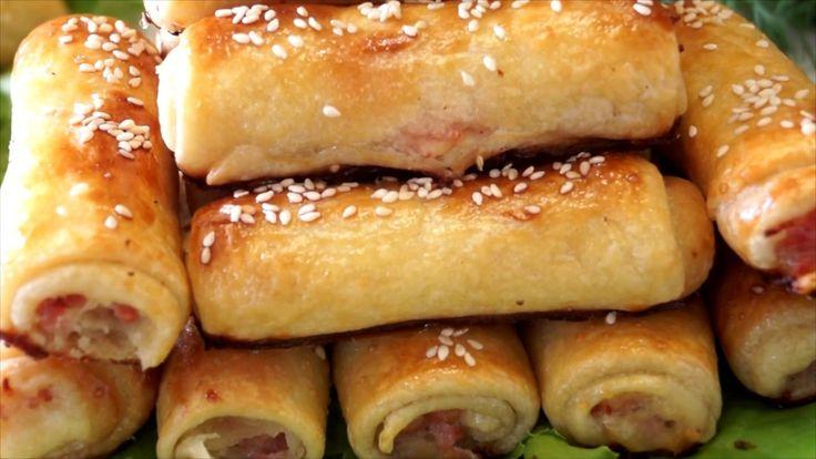Быстрые закусочные трубочки. Это Хорошее решение для быстрой закуски для пикника, завтрака или ужина. Начинка может быть разнообразной на Ваш вкус. Готовятся...