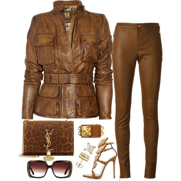A fashion look from December 2015 featuring Belstaff jackets, Gucci pants and Giuseppe Zanotti sandals. Browse and shop related looks.
