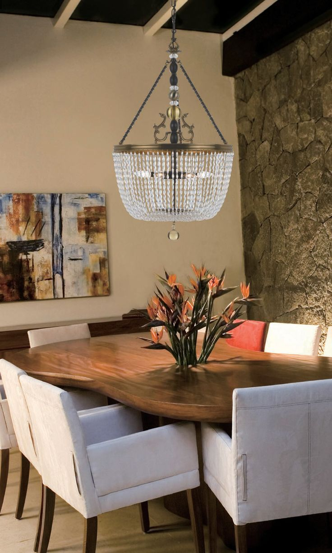 Kichler lighting 42548clp triad 3 light linear pendant classic pewter - Crystal Pendant Homedecor Homedesign Diningroom Interiordesign Photography Www Wegotlites