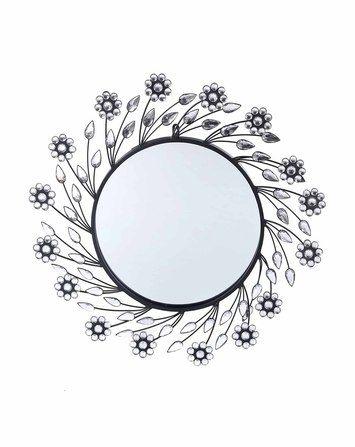 Flora Wall Mirror silverblack120509122H