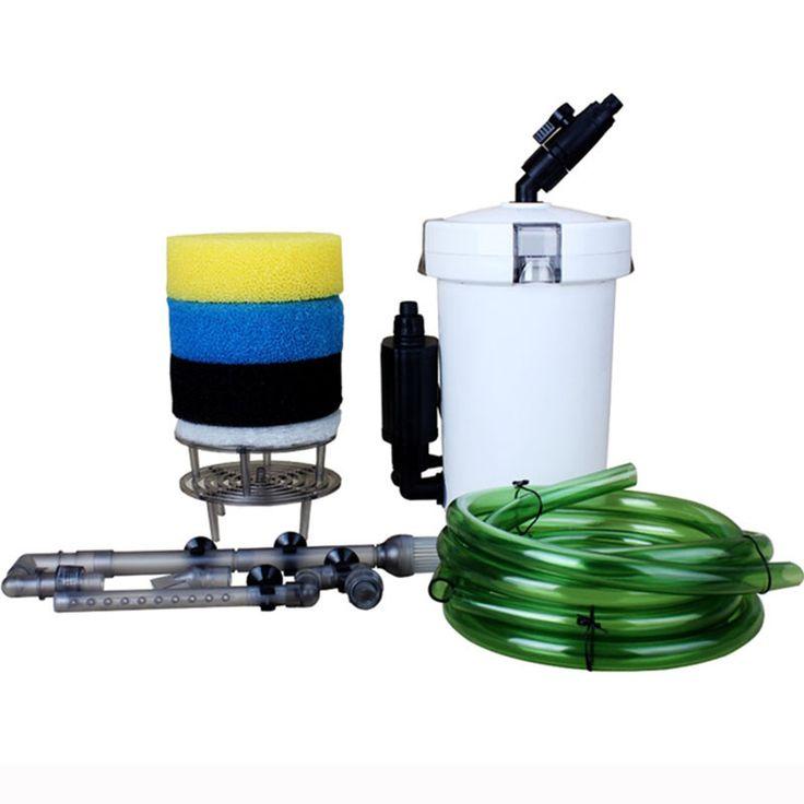 HW-603B Ultra-quiet External Aquarium Filter Bucket Container aquarium fish tank filter box water pump 6W Super Filtering System