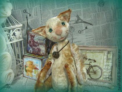 Омилай. Котэ. - бежевый,тедди котэ,авторский кот,винтажный кот,кот в подарок