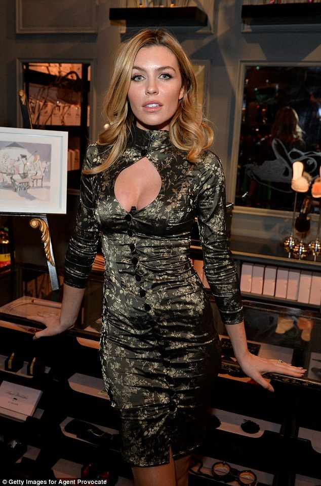 Good year: Abbey Clancy, pictured at the launch of her and Agent Provocateur's Breast Canc...
