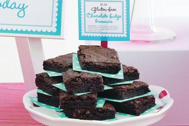 Chocolate-fudge brownies (wheat and gluten free)