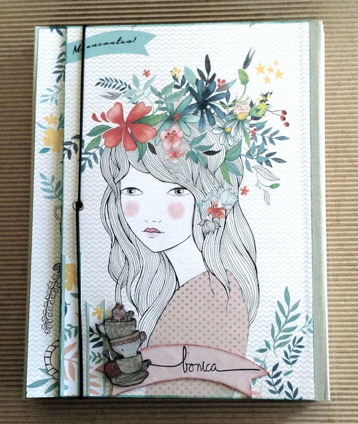 Carpeta amb llibretes feta amb #scrapbooking amb la col·lecció La más bonita de Lady Desidia http://www.tintaxina.cat/ca/paper/30048-mini-album-de-16-fulles-de-la-colleccio-la-mas-bonita-de-lady-desidia.html
