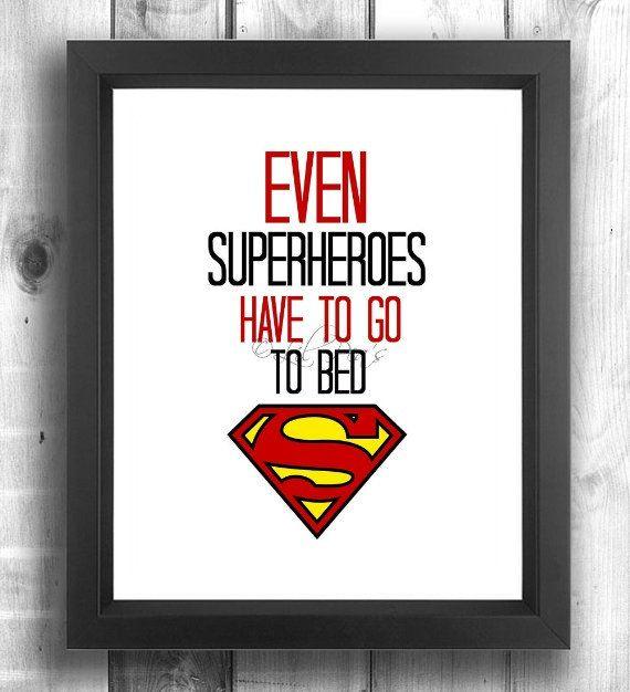 Superhero Nursery Superman Baby Print Superhero by LilPeasPrints