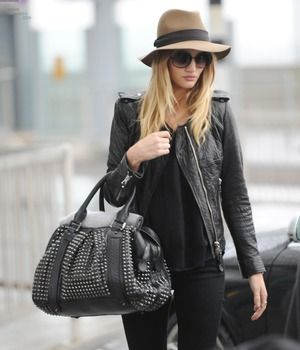 Rosie Huntington-Whiteley and Burberry Prorsum Knight Bag Photograph