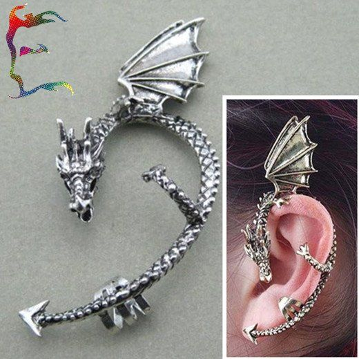 Aliexpress.com : Buy Wholesale Retro Dragon Punk Ear Cuff serpent wrap clip earring Tattoo stud earring Bronze Silver 24pcs/Lot Free shipping from Reliable dragon earring suppliers on Wonderful Jewelry Store