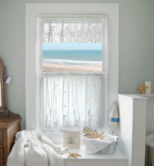 Tips on Choosing the Right Bathroom Window Curtain : Bathroom Window Curtain Gallery 003