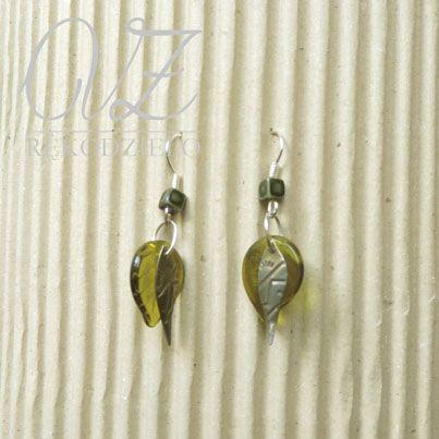 aż rękodzieło: Zielone kolczyki na Dzień Matki / green earrings for Mother's Day