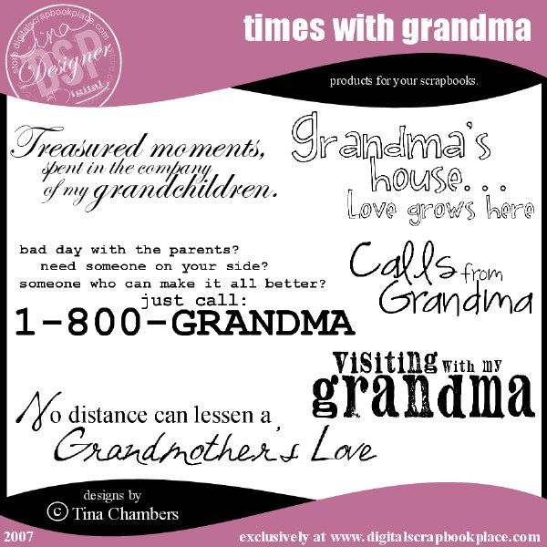 grandma quotes and sayings   ISO: Quotes or wordart about Grandchildren - DigiShopTalk Digital ...