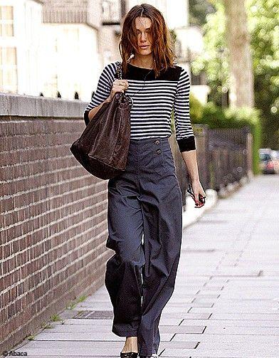 la mariniere - stripe#street style#Keira Knightley
