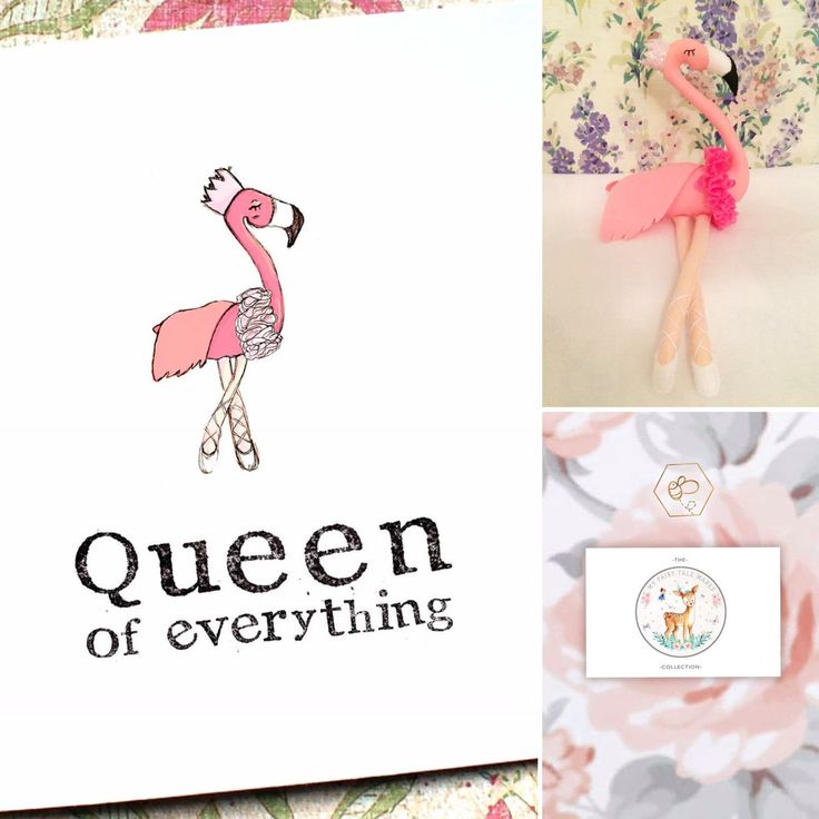 *NEW* because she is the QUEEN of everything! Inspired by MyFairyTaleMakes BEEautiful Flamingo!