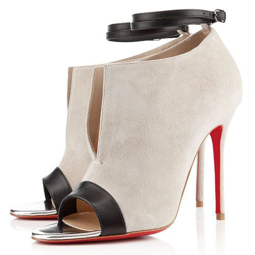 Christian Louboutin Diptic 100mm Sandals Stone Suede