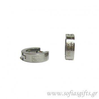 Ανδρικό σκουλαρίκι κρίκος γιν - γιαν #ανδρικά #σκουλαρικια #andrika #skoularikia #kosmhmata #κοσμηματα