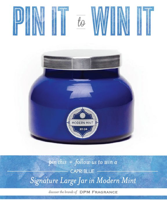 PIN-IT-TO-WIN-IT: Capri Blue Modern Mint Signature Large Jar ||   {re-pin and follow us to win!}