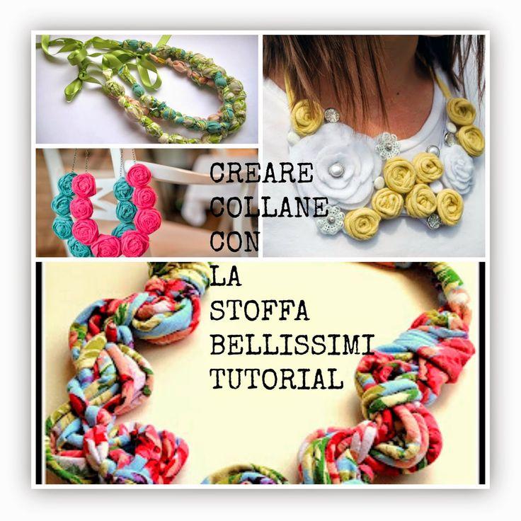 Creare bellissimi bijoux di stoffa-Collane fai da te riciclando stoffa- Tutorial