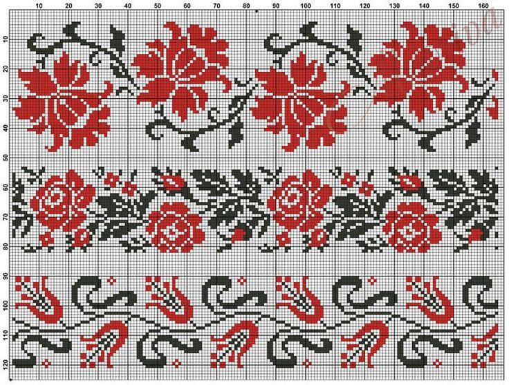 Узоры для вышиванок схема 1