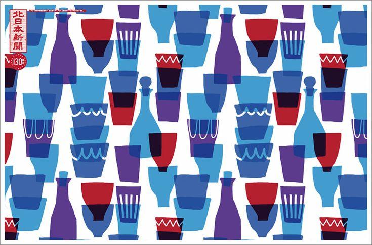 文化「ガラス工芸」|テキスタイルデザイナー・鈴木マサル 北日本新聞 創刊130周年記念企画「富山もようプロジェクト」
