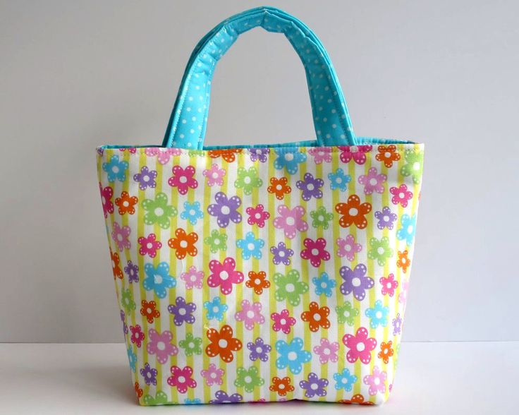 Girl's Bag, Mini Tote Bag, Kids Bag, Handbag for Girls, Colourful Flowers, Rainbow Bag, Bright Tote for Kids, Kids Floral Tote, Pretty Tote by RachelMadeBoutique on Etsy https://www.etsy.com/au/listing/535107467/girls-bag-mini-tote-bag-kids-bag-handbag