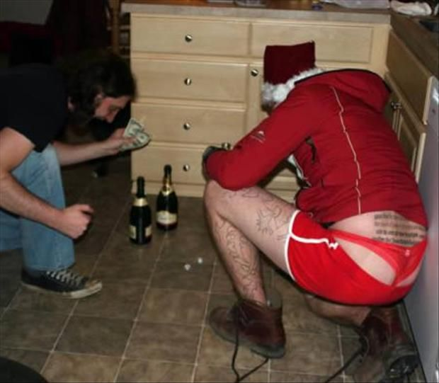 Funny Christmas Pictures | funny christmas pictures, man in thong