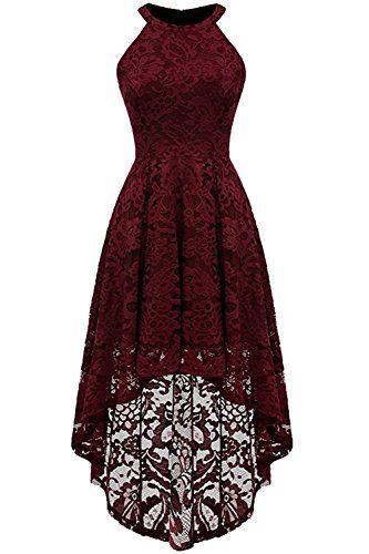 MisShow Damen Elegant Kleid aus Spitzen Damen Ärm…