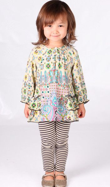 Bunnies Picnic - Mimi & Maggie Grand Canal Tunic & Legging Set for Babies & Toddlers - Boutique Clothing for Girls and Boys