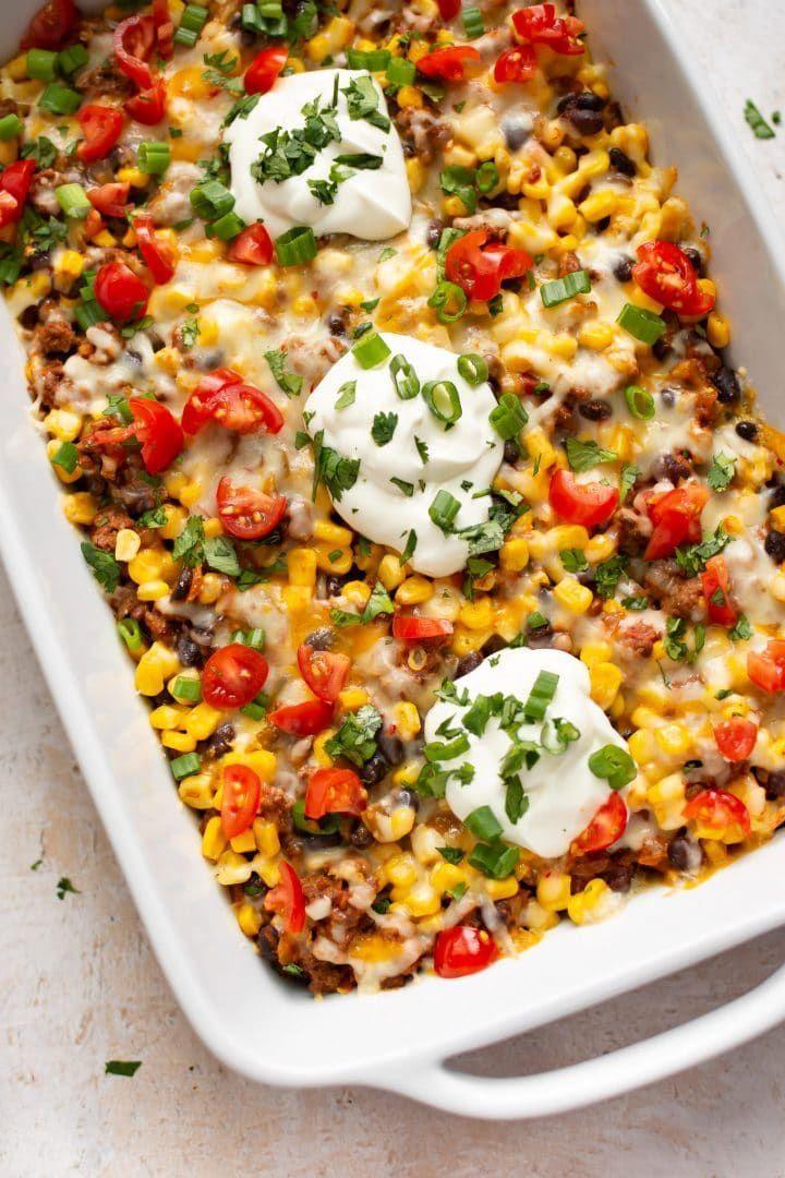 Easy Taco Casserole Recipe Recipe In 2020 Easy Taco Casserole Casserole Recipes Taco Casserole