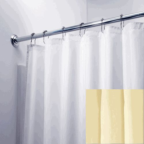 White 108quot; Wide x 84quot; Long Hotel Nylon Fabric Shower Curtain Liner