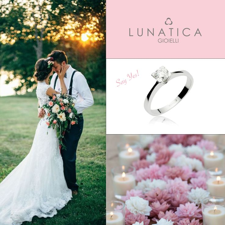 #lunatica #lunaticagioielli #say #yes #sì #solitario #engagment #ring #engagmentrings #diamond #precious #wedding #italianwedding #style #romantic #sposa #flower #coloured #orobianco #18kt #roma #rome #mood #forever #persempre #weddingstyle  #weddinginspiration #sposi #amore