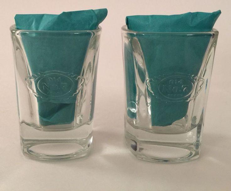 Jack Daniels Shot Glass - Old No. 7 - Logo - 2 oz - Tennessee Whiskey Square #JackDaniels