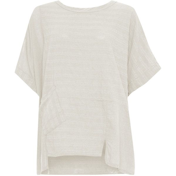 WearAll Plus Size Linen Oversized Batwing Hanky Hem Top (31 CAD) ❤ liked on Polyvore featuring plus size women's fashion, plus size clothing, plus size tops, plus size t-shirts, stone, plus size tees, women's plus size t shirts, batwing sleeve tops and women's plus size tops