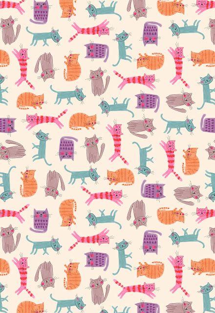 Lindas estampa de gatinhos