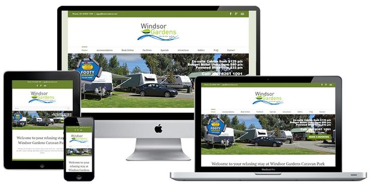 Ivolution Consulting - Adelaide Website Design - Windsor Gardens Caravan Park