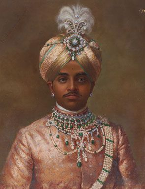 Sri Maharaja Sir Krishnaraja IV Wodiyar Bahadur of Mysore, 1906 K Keshavayya © V & A Images