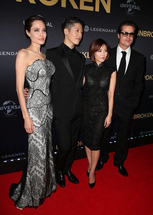Angelina Jolie, Melody Ishihara, Miyavi Ishihara e Brad Pitt (Foto: Getty Images)