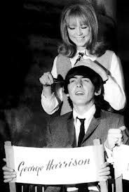 """Pattie: """"I made a bee-line for George."""" Quote from: 'Wonderful Today' George Harrison, Eric Clapton and Me. Autobiography by Pattie Boyd"""
