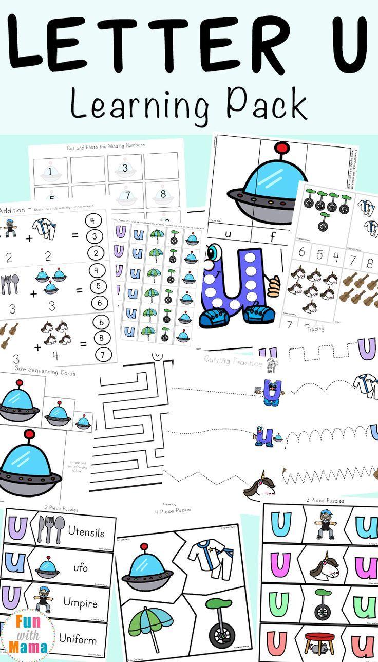 Letter U Worksheets For Preschool Kindergarten Pack Preschool Letters Kindergarten Worksheets Printable Kindergarten Letters